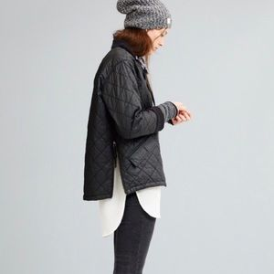 Madewell Quilted Session Waxed Bomber Jacket